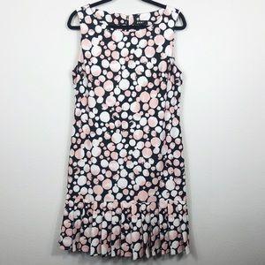 DKNY Black Pink Shift Dress Size 14